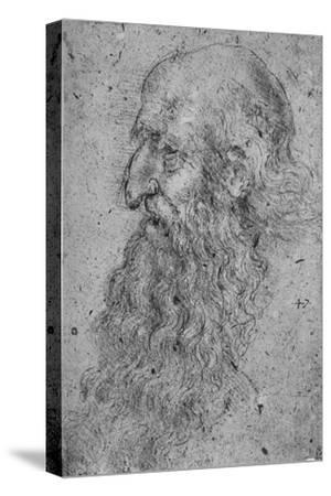 'Profile of an Old, Bearded Man to the Left', c1480 (1945)-Leonardo da Vinci-Stretched Canvas Print