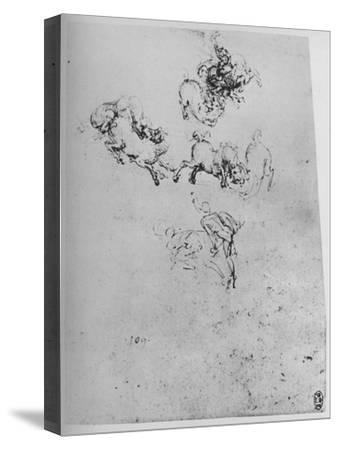 'Horses and Horsemen in Combat', c1480 (1945)-Leonardo da Vinci-Stretched Canvas Print