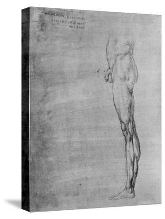'Study of the Body and Leg of a Man', c1480 (1945)-Leonardo da Vinci-Stretched Canvas Print