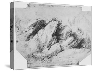 'Study of Rock Formations', c1480 (1945)-Leonardo da Vinci-Stretched Canvas Print