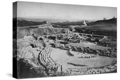 'Carthage. The Amphitheatre', c1913-Charles JS Makin-Stretched Canvas Print