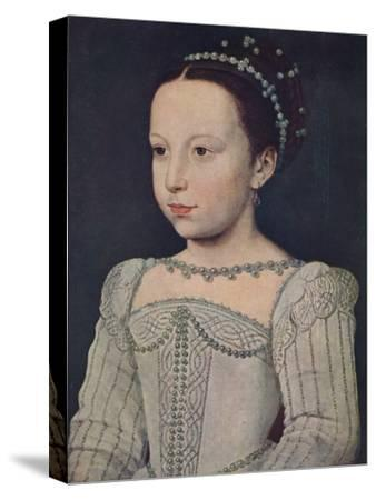 'Marguerite de Valois', c1560, (1939)-Francois Clouet-Stretched Canvas Print