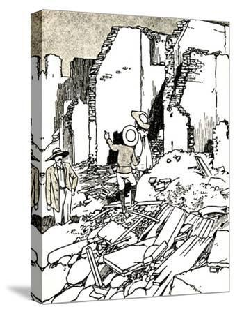 'After the Earthquake', 1907 (1912)-Charles Robinson-Stretched Canvas Print