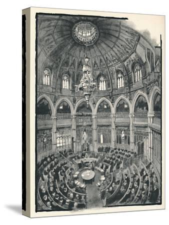'The Guildhall - Council Chamber', 1891-William Luker-Stretched Canvas Print