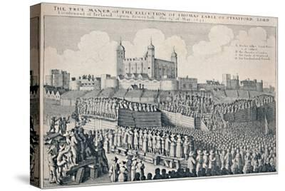 'Execution of the Earl of Strafford', c1641, (1903)-Wenceslaus Hollar-Stretched Canvas Print