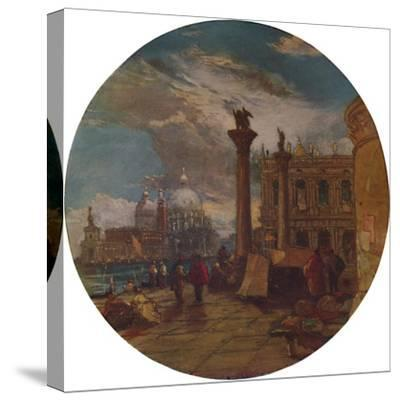 'The Piazza of St. Mark's Venice', 1853, (1935)-James Holland-Stretched Canvas Print