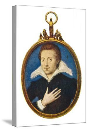 'Sir Philip Sidney', c1580-1610, (1903)-Isaac Oliver I-Stretched Canvas Print
