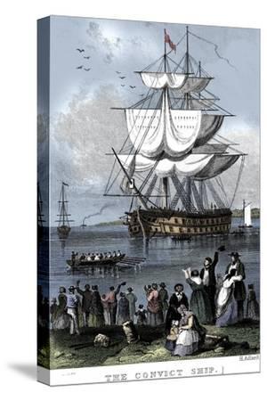 'The Convict Ship', c1820-Henry Adlard-Stretched Canvas Print