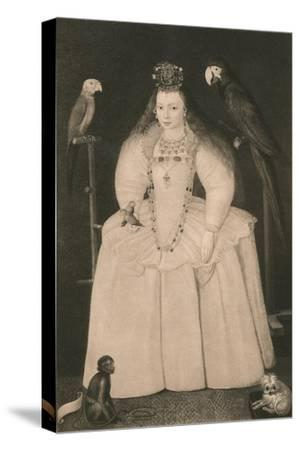 'Arabella Stewart', c16th century, (1904)-Marcus Gheeraerts, the Younger-Stretched Canvas Print