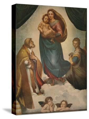'The Sistine Madonna', 1512, (1911)-Raphael-Stretched Canvas Print