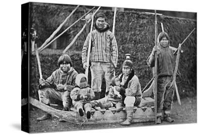 An Eskimo sledging party, 1912-Pierre Petit-Stretched Canvas Print