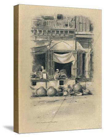 'Bazaar at Delhi', 1903-Mortimer L Menpes-Stretched Canvas Print