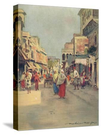 'A Side Street in Agra', 1905-Mortimer Luddington Menpes-Stretched Canvas Print