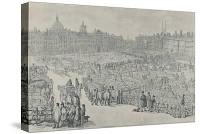 'Smithfield Market, 1810', 1920-Thomas Rowlandson-Stretched Canvas Print