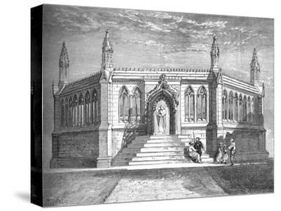 'Memorial Chapel at Cawnpore', c1880-Richard Principal Leitch-Stretched Canvas Print