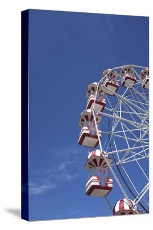 Aarhus, Tivoli Friheden, big wheel,-Gianna Schade-Stretched Canvas Print