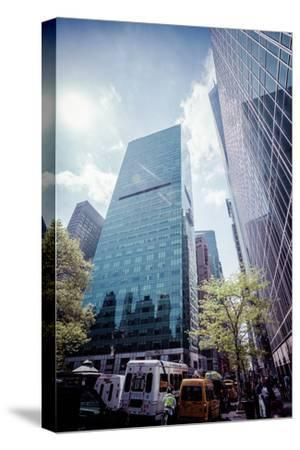 W. R. Grace Building and skyscrapers, Streetview, Manhattan, New York, USA-Andrea Lang-Stretched Canvas Print