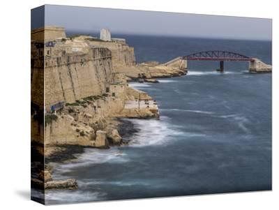 Stormy morning in Grand Harbour in Valletta on Malta-enricocacciafotografie-Stretched Canvas Print