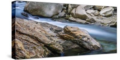 Rocky dragonhead in the Verzasca-enricocacciafotografie-Stretched Canvas Print