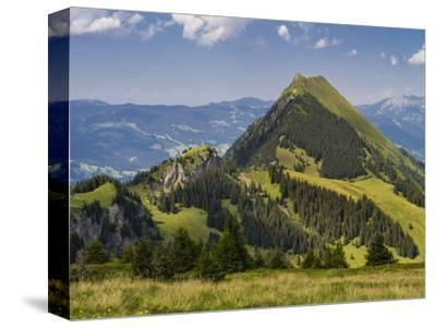 Summery mountain landscape in the Bernese Oberland-enricocacciafotografie-Stretched Canvas Print