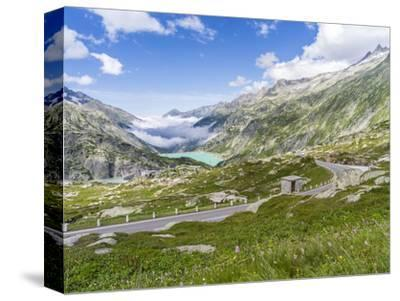 Grimsel mountain pass with reservoir Räterichsboden-enricocacciafotografie-Stretched Canvas Print
