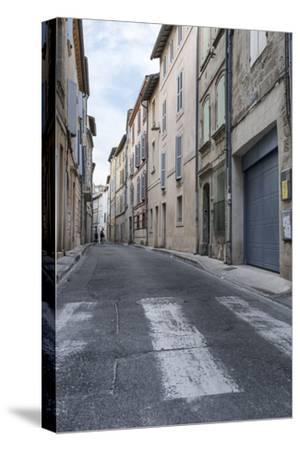 Street in the Old Town of Avignon, Vaucluse, Provence, France,-Bernd Wittelsbach-Stretched Canvas Print