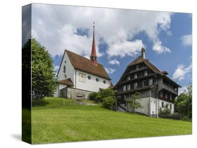 Pilgrimage chapel Maria Mitleiden in Gormund-enricocacciafotografie-Stretched Canvas Print
