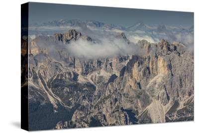 Europe, Italy, Alps, Dolomites, Mountains, Trentino-Alto Adige/Südtirol, View from Sass Pordoi-Mikolaj Gospodarek-Stretched Canvas Print