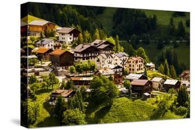 Europe, Italy, Alps, Dolomites, Veneto, Belluno, Selva di Cadore, view from Colle Santa Lucia-Mikolaj Gospodarek-Stretched Canvas Print
