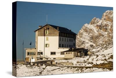 Europe, Italy, Alps, Dolomites, Mountains, Belluno, Sexten Dolomites, Rifugio Auronzo, Tre Cime-Mikolaj Gospodarek-Stretched Canvas Print