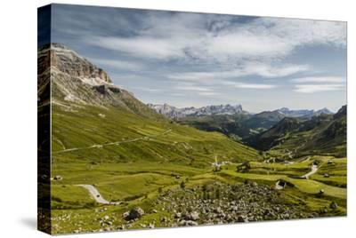 Europe, Italy, Alps, Dolomites, Mountains, Pordoi Pass-Mikolaj Gospodarek-Stretched Canvas Print
