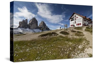 Europe, Italy, Alps, Dolomites, Sexten Dolomites, South Tyrol, Rifugio Antonio Locatelli-Mikolaj Gospodarek-Stretched Canvas Print