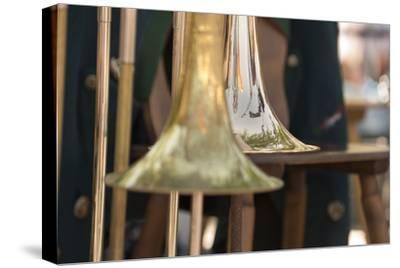 Brass band music, instruments-Christine Meder stage-art.de-Stretched Canvas Print