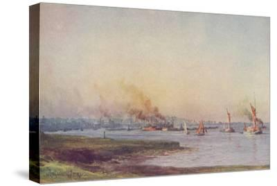 'An Estuary', 1910-WL Wythe-Stretched Canvas Print