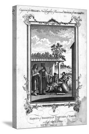 'Habits of Dagestan Tartars of Tarcu, on the borders of Persia', 1780-NC Goodnight-Stretched Canvas Print