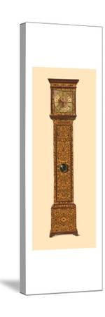 Clock inlaid with light marquetry, 1905-Shirley Slocombe-Stretched Canvas Print