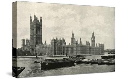 'The Houses of Parliament', (c1897)-E&S Woodbury-Stretched Canvas Print