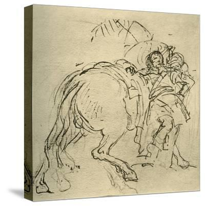 'A rider leaning on his horse', c1740s, (1928)-Giovanni Battista Tiepolo-Stretched Canvas Print