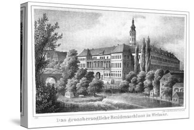 The Weimar City Castle. From: Thüringen und der Harz.. by Friedrich von Sydow, 1839--Stretched Canvas Print