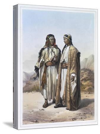 A Mahazi and a Soualeh Bedouin, 1848-Charles Bour-Stretched Canvas Print