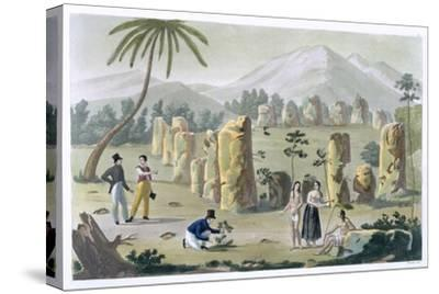 'House of the Ancients, Island of Tinian', c1820-1839-G Bramati-Stretched Canvas Print
