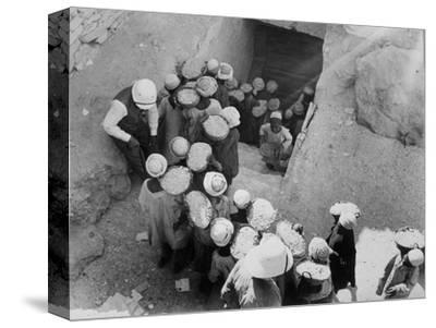 Closing the Tomb of Tutankhamun, Valley of the Kings, Egypt, February 1923-Harry Burton-Stretched Canvas Print