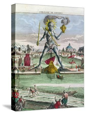 The Colossus of Rhodes, 18th century-Georg Balthasar Probst-Stretched Canvas Print