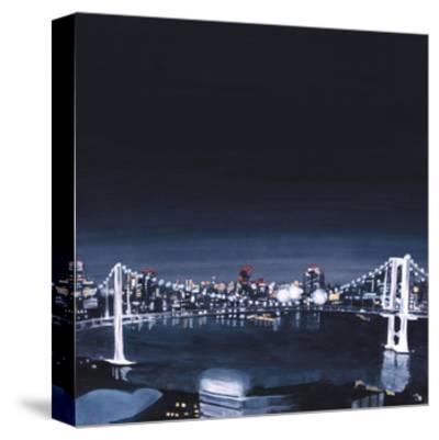 Night view,2013-Tomoko FURUYA-Stretched Canvas Print
