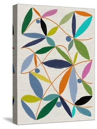 Printed Leaves-Jenny Frean-Stretched Canvas Print