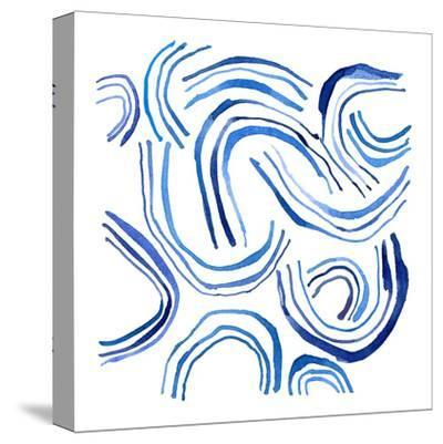 NauWater Swirl    ripples, water, nautical-Robbin Rawlings-Stretched Canvas Print