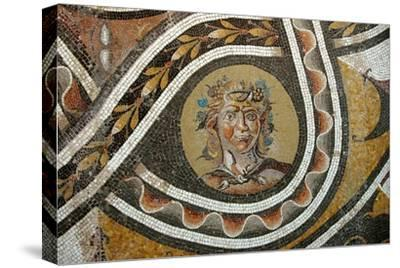 Pavement mosaic depicting the god Bacchus-Werner Forman-Stretched Canvas Print
