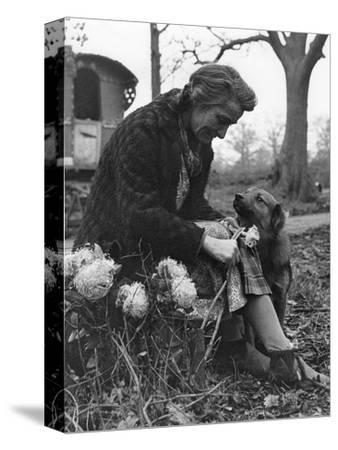 Gypsy woman with dog, 1960s-Tony Boxall-Stretched Canvas Print