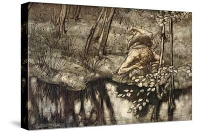 Siegfried sees himself in the stream', 1924-Arthur Rackham-Stretched Canvas Print