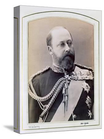 King Edward VII when Prince of Wales, c1884-1898-Walery-Stretched Canvas Print